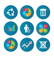 Recycle bin icons Reuse or reduce symbol vector image vector image