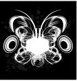 black and white sound graffiti vector image