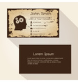 ragged edges old paper brown business card design vector image