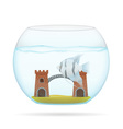 aquarium with fish 05 vector image vector image