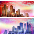 Modern City landscape in sunset vector image vector image