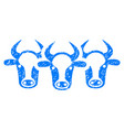 cattle icon grunge watermark vector image