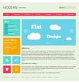 Flat Web Design Template vector image