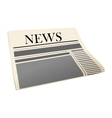 Folded daily newspaper vector image