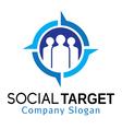 Social Target Design vector image