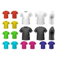 Colorful male t-shirts vector image