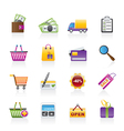 shopping and website icons vector image