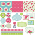 Scrapbook Design Elements - Rose Flowers vector image vector image