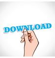 download label in hand vector image