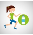 girl jogger bottle water healthy lifestyle vector image