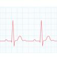 Medical electrocardiogram - ECG vector image
