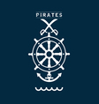 pirates sign set two on blue vector image