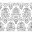 seamless black and white vintage texture vector image