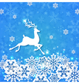 Deer and snowflakes vector image