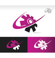 Swoosh Gear Logo Icon vector image vector image