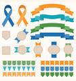 ribbon and badges set 2 vector image