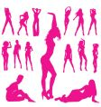woman silhouettes vector image