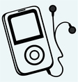 MP3 player with earphones vector image vector image