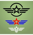 Military style emblem set vector image