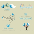 Vintage hipster logo collection for wedding vector image