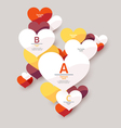 Colorful flat hearts vector image
