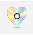 heart in shape cd vector image vector image