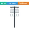 Flat design icon of football light mast vector image