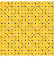 Black and yellow dots and diamonds vector image