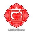 chakra muladhara isolated on white vector image