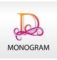 design modern logo letter monogram for business vector image