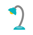 desk lamp isolated icon vector image