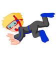 diver boy cartoon vector image