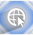 globe Flat modern web design on a flat geometric vector image