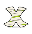 Letter X Monster zombie Alphabetical icon medical vector image
