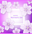 mothers day greeting card with cherry blossom vector image