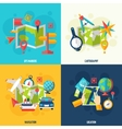 Navigation And Location Flat Icon Set vector image