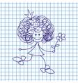 Princess Doodle Sketch vector image