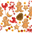 Seamless pattern of Christmas sweets vector image