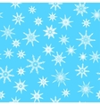 Seamless pattern texture with snowflakes on blue vector image