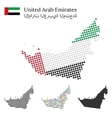 United Arab Emirated flag and maps vector image