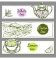 Tea Time Banner Set vector image vector image