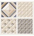 Floor tiles - geometrical patterns set vector image vector image
