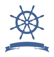 Ship Wheel Banner vector image