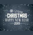 retro christmas label on dark background vector image