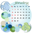 2012 calendar january vector image