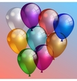 multi-color air balloons in the sky vector image