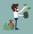 Businessman corruption concept vector image