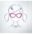 Female avatar vector image vector image