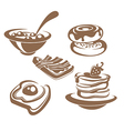 common breackfast vector image vector image