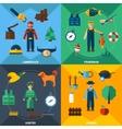 Nature Management Professions Icon Set vector image
